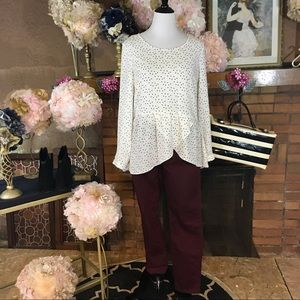 NY COLLECTION TUNIC; STITCH STAR PANTS